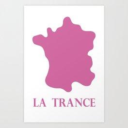 Trance in pink Art Print