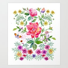 Bowers of Flowers Art Print