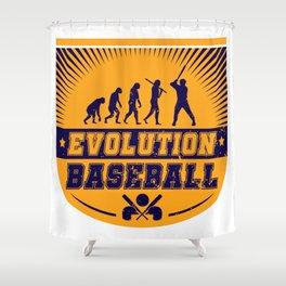 Evolution Baseball Shower Curtain