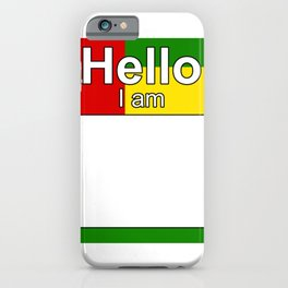 Hello I am from Togo iPhone Case