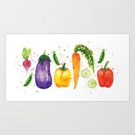 Very Veggie Art Print