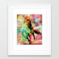 storm Framed Art Prints featuring Storm by RIZA PEKER