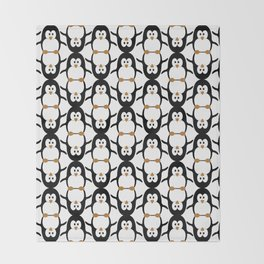 Poignant Penguins Throw Blanket