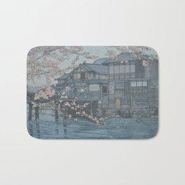1933 Hiroshi Yoshida Japanese Woodblock Print Hayase Bath Mat