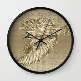 Golden dove Wall Clock