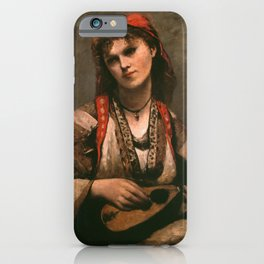 """Jean-Baptiste-Camille """"Gypsy with a Mandolin"""" iPhone Case"""