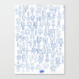 Robot Crowd Canvas Print