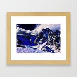 Alps In Winter Framed Art Print