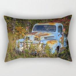 Old Blue Truck Rectangular Pillow