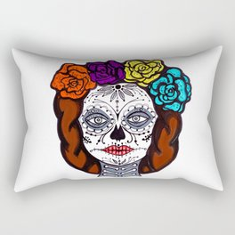 Day of Dead Bride Rectangular Pillow