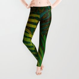TROPICAL GREENERY LEAVES no2 Leggings