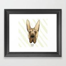 Great Dane Framed Art Print