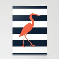 crane Stationery Cards featuring Crane by Gathered Nest Designs