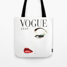 Vintage Vogue Magazine Cover. Fashion Illustration. Tote Bag