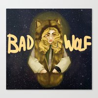 bad wolf Canvas Prints featuring BAD WOLF by Aviculae