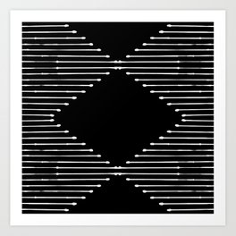 Geo / Black Art Print