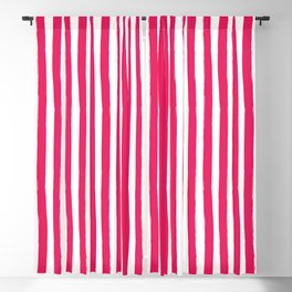 Red and White Cabana Stripes Palm Beach Preppy Blackout Curtain
