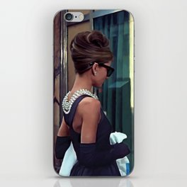 Audrey Hepburn #2 @ Breakfast at Tiffany's iPhone Skin