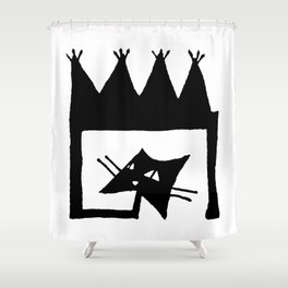 Square cat Shower Curtain