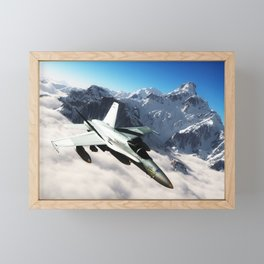 F-18 Hornet Framed Mini Art Print