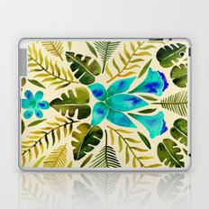 Tropical Symmetry – Turquoise & Olive Palette Laptop & iPad Skin