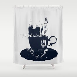 Having Tea With my Lovely Cat Shower Curtain