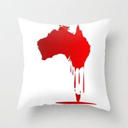 Australia Melting Down Throw Pillow