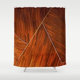 Geometric Grain Shower Curtain