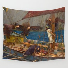 John William Waterhouse Ulysses and the Sirens 1891 Wall Tapestry