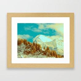 White Mountains in Kandersteg Swiss Framed Art Print