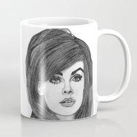cassandra jean Mugs featuring Jean Shrimpton by Paul Nelson-Esch Art