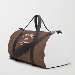 Cupcakes Cheaper Therapy Funny Quote Duffle Bag