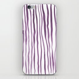Vertical watercolor lines - purple iPhone Skin