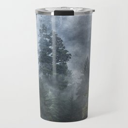 Smoky Redwood Forest Foggy Woods - Nature Photography Travel Mug
