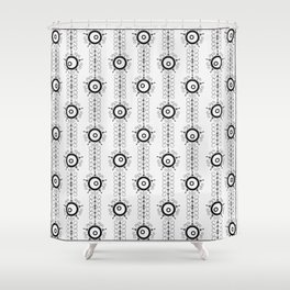Black and white pattern Art Deco 25 . Shower Curtain