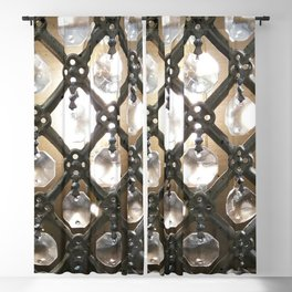 Rustic Glam Crystals and Metal Blackout Curtain