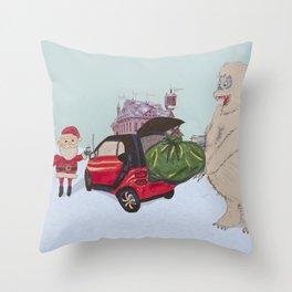 Smart Bumble Throw Pillow