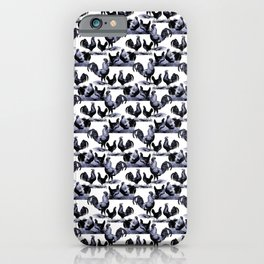 Clucking Roosters iPhone Case