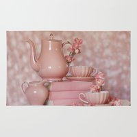 peach Area & Throw Rugs featuring Peach by With Love & Lace...
