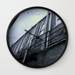 Down the Back Alley Wall Clock