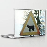 cows Laptop & iPad Skins featuring Attention cows by Falko Follert Art-FF77