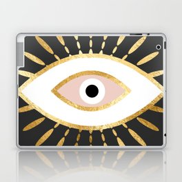 gold foil evil eye in blush Laptop & iPad Skin