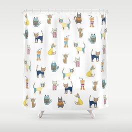 Cats in sweaters Shower Curtain
