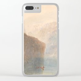 "J.M.W. Turner ""Tell's Chapel, Lake Lucerne"" Clear iPhone Case"