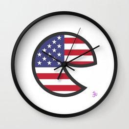 USA Smile Wall Clock