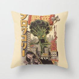 Broccozilla Throw Pillow