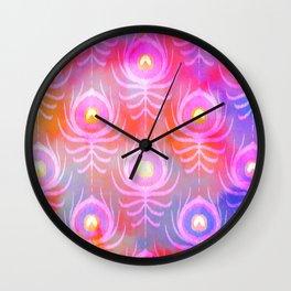 Peacock Feather Batik Wall Clock