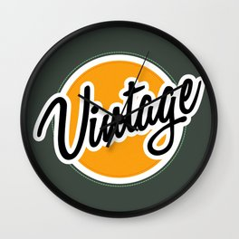 Vintage Badge Wall Clock