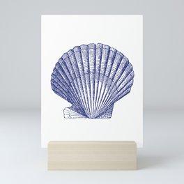 Seashell Print, SeaShell Art Print, Marine Art, Minimalist Art, Seashell Art Print, Nautical Art Prints, Beach Decor, Nautical Art, Beach Shell, Seashell, Nautical, Nautical Decor, Nautical Art Print, Nautical Art Beach, Navy Blue, Beach Mini Art Print