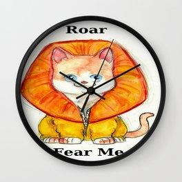 Roar Fear Me Wall Clock
